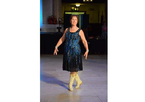 Anne på världsmästerskapet i Linedance.