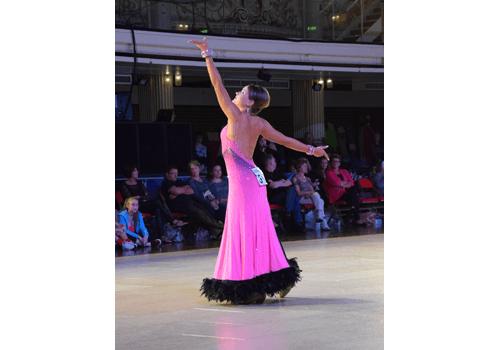 Vår vän Barbara på världsmästerskapet i Linedance.