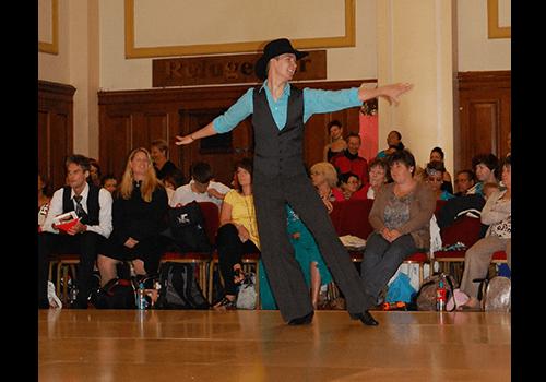 Charles på världsmästerskapet i Linedance.