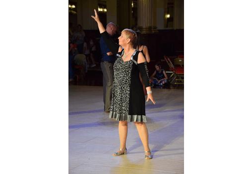Monica på världsmästerskapet i Linedance.