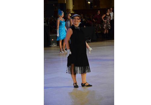 Therese på världsmästerskapet i Linedance.