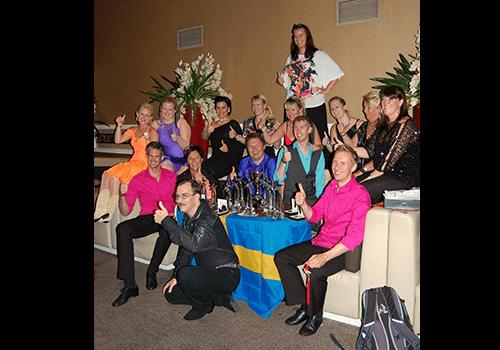 De svenska tävlande efter världsmästerskapet i linedance 2011.