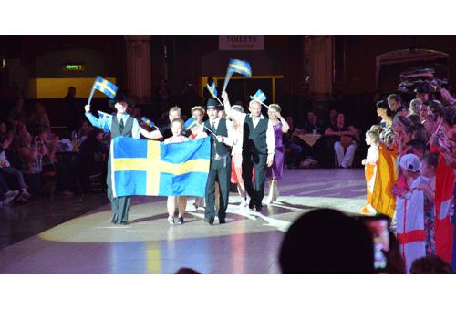 Våra dansare i tävlingsparaden på världsmästerskapet i linedance.