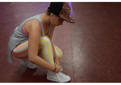 Wilma gör sig redo på världsmästerskapet i Linedance.