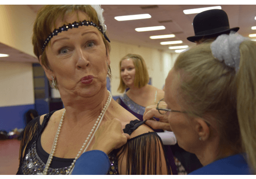 Anne gör sig redo på världsmästerskapet i Linedance.