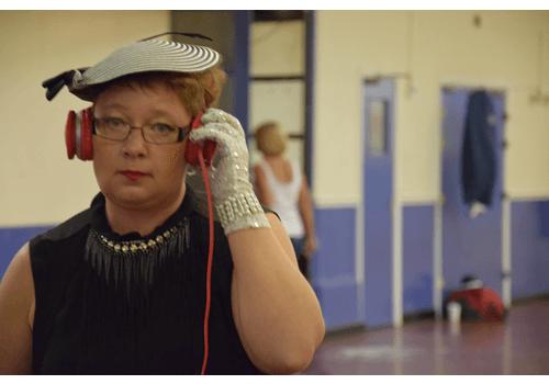 Therese gör sig redo på världsmästerskapet i Linedance.