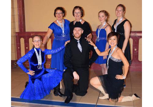 Våra dansare efter världsmästerskapet i Linedance.