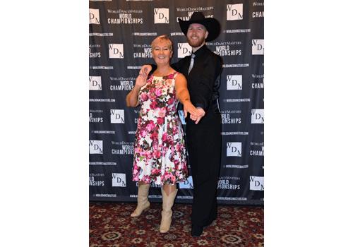 Charles och Monica på världsmästerskapet i Linedance.